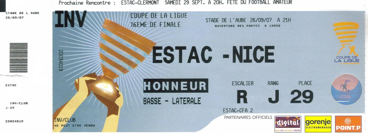 Billets coupe de la ligue 19992000 a 20092010 ogcnicearena - Billet coupe de la ligue 2015 ...