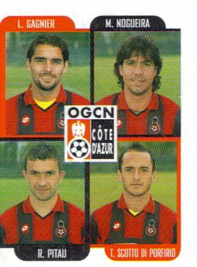 PANINI FOOTBALL 2002 (n°443) - L. GAGNIER_M. NOGUEIRA_R. PITAU_T. SCOTTO DI PORFIRIO