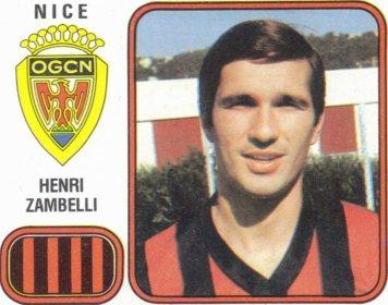 PANINI FOOTBALL 82 (n°215) - Henri ZAMBELLI