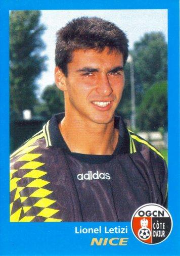 PANINI FOOTBALL 96 (n°261) - Lionel LETIZI