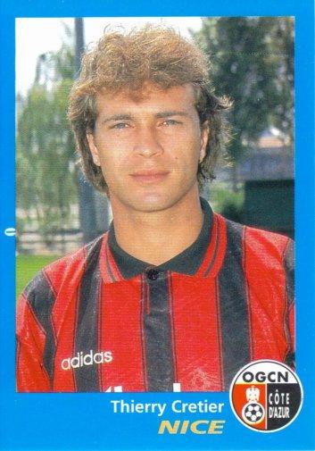 PANINI FOOTBALL 96 (n°264) - Thierry CRETIER