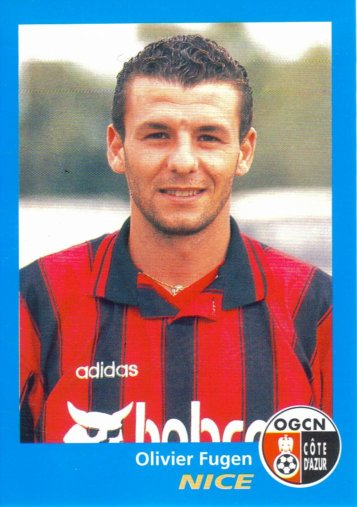PANINI FOOTBALL 96 (n°265) - Olivier FUGEN
