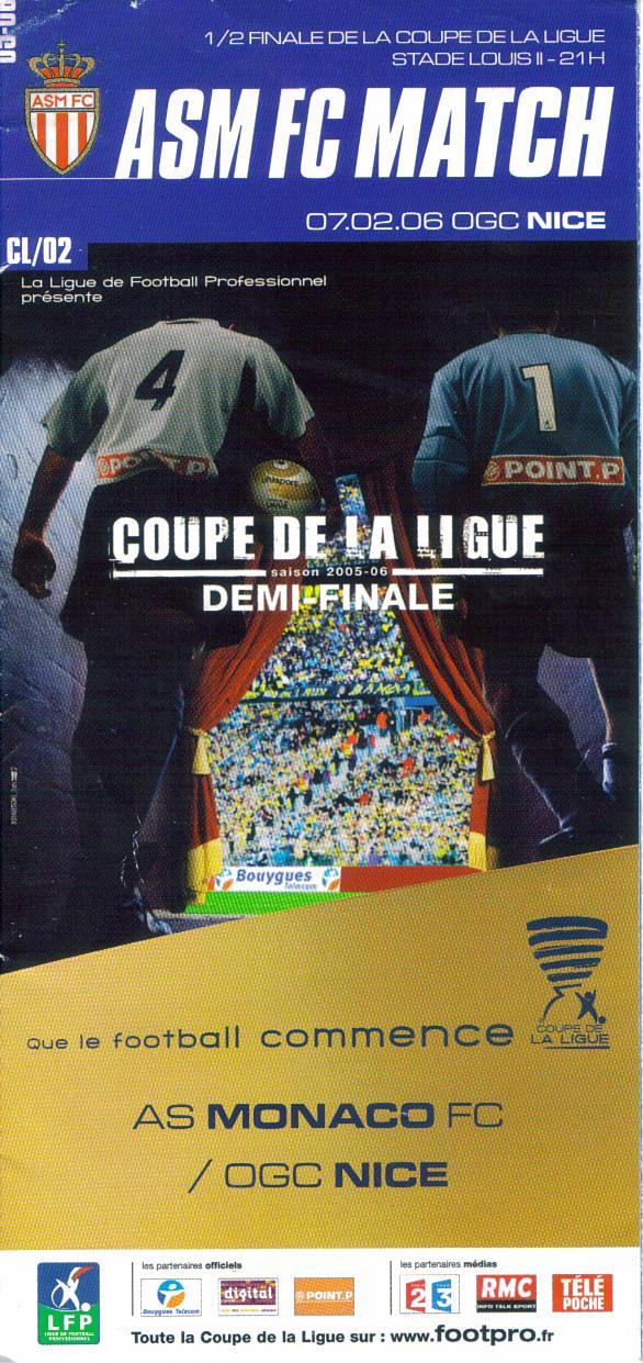 Progs coupe de la ligue ogcnicearena - Coupe de la ligue demi finale ...